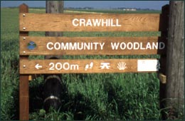Woodland signs and fencing